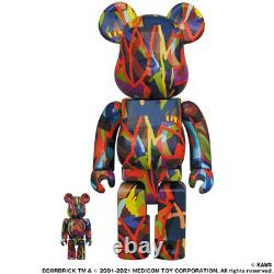 Medicom Toy BE@RBRICK KAWS TENSION 400% 100% set figure bearbrick