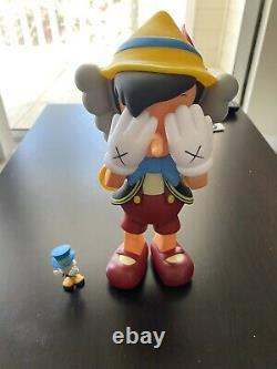 Medicom Toy kaws Disney Pinocchio And Jiminy Original Fake Figure Set