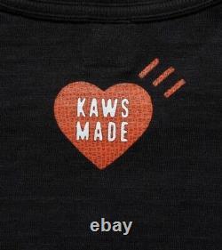 NEW Human made x Kaws T-shirt #1 Size Large Black cotton