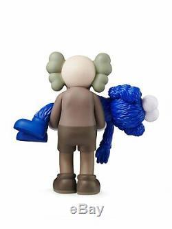 NEW! Kaws Gone Companion BFF Vinyl Figure Brown Blue IN HAND from kawsone. Com