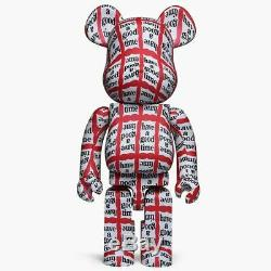 New Authentic Medicom Be@rbrick 1000% Have A Good Time Bearbrick Kaws 400%