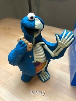 New In Box Mighty Jaxx Sesame Street XXRAY Plus Cookie Monster Almo Kaws