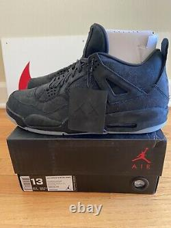 Nike Air Jordan IV 4 Kaws Black Size 13 DS NEW Rare pe Travis iii v xi Union i
