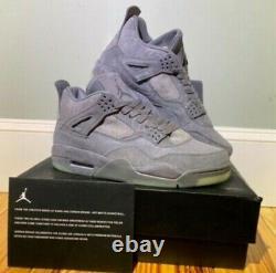Nike KAWS X Air Jordan 4 Retro Cool Grey 12 U. S BRAND NEW NEVER WORN 930155-00