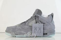 Nike X Kaws Air Jordan Retro 4 Cool Grey 930155-003 9.5-12 IN STOCK 11 3 1