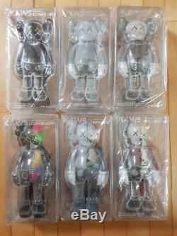 ORIGINAL FAKE KAWS COMPANION OPEN EDITION Figure 6pcs Set Medicom Toy