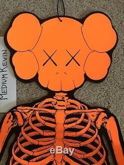 OriginalFake Kaws 4ft Companion Halloween Skeleton Ornament 2007 Orange BFF