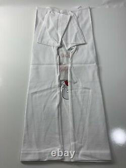OriginalFake X KAWS White T shirt Sz L (3) Jester Red Pinkish Original Fake NWT