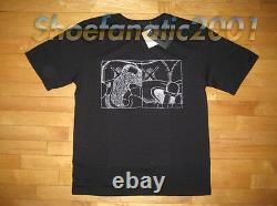Original Fake KAWS Double Up Embroidered Shirt Chomper XL 4 Black Companion