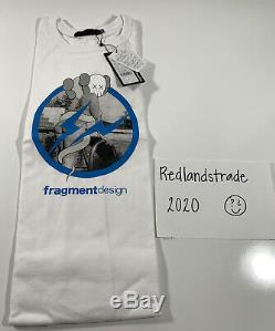 Original Fake Kaws Girl Bending Fragment Design White T Shirt Sz 3 Large NWT