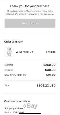 PREORDER KAWS What Party Figure White CONFIRMED ORDER