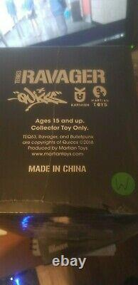 Quiccs Martian Toys TEQ63 7.3 RAVAGER WHITE EDITION SEALED! ONLY 300 MADE KAWS