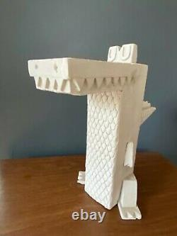 RARE Amanda Visell Cement Sculpture ALLIGATOR mid-century KAWS Switcheroo