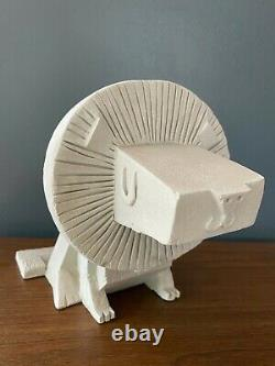 RARE Amanda Visell Cement Sculpture LION mid-century KAWS Switcheroo