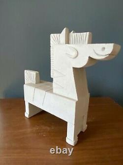 RARE Amanda Visell Cement Sculpture ZEBRA mid-century KAWS Switcheroo