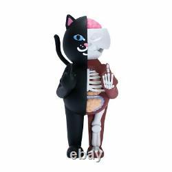 RipNDip Lord Nermal Cat 14 Vinyl Figure Black Red 500 Limited Kaws Bearbrick