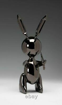 Sculpture Black Balloon Rabbit Editions Studio With COA -Not Banksy Kaws Koons