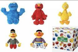 Sesame Street x KAWS x UNIQLO Complete Box Set of 5 Plush Dolls 100% Authentic