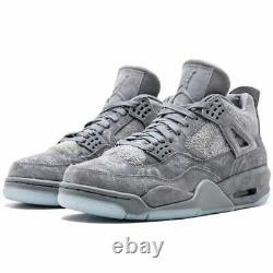 Size 10 Jordan 4 Retro x KAWS Cool Grey