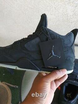 Size 11 Jordan 4 Retro x KAWS Black 2017 New