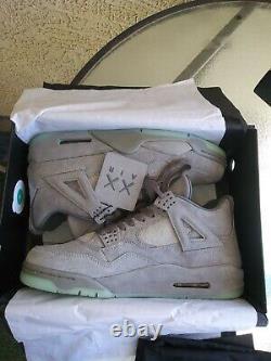 Size 12 Jordan 4 Retro x KAWS Cool Grey 2017