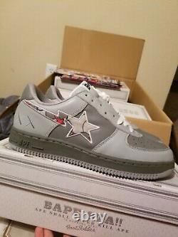 Size 12 kaws bapesta brand new no box gray
