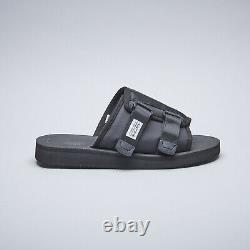 Suicoke OG-081Cab / KAW-Cab Black Nylon Antibacterial Sandals Slides Slippers