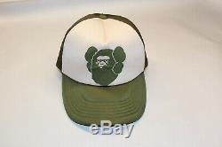 Super Rare Bape X Kaws Trucker Hat