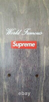 Supreme Kaws Chalk Logo Skateboard Deck New In Packet Sold Out RED