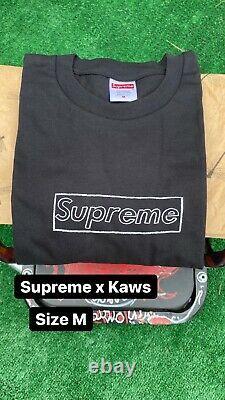 Supreme x Kaws Chalk Logo Tee Black