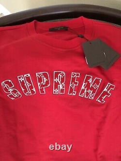 Supreme x Louis Vuitton Crewneck Sweater DS 6L XXXL Box Logo Hoody Kaws LV XL