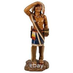Tobacco Cigar Store Indian Kaw-Liga Antique Replica Statue Large