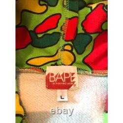 Unused Bape Psyche Camo Full Zip Hoodie OG Rare Nigo Pharrell Size L Kaws