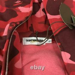 Unused Bape Red Camo Hoodie Size L Vintage Nigo Kaws Milo Sta Pharrell OG