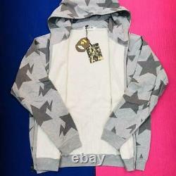 Unused Bape Sta Full Zip Hoodie Gray Size L New OG Nigo Era kaws
