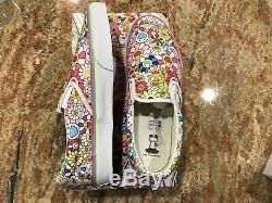 Vans Takashi Murakami Classic Slip-On Flower Multi Art Kaws NEW Authentic 11