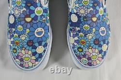 Vans X Takashi Murakami New Blue Flower Kaws Classic Slip On (limited!) 10
